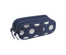 Piórnik dwukomorowy Coolpack Clever Silver Dots/Blue