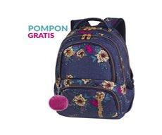 9537e5424ef76 Plecak szkolny Coolpack Spiner 27L Blue Denim Flowers