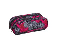 Piórnik dwukomorowy Coolpack Clever Red & Black Flowers