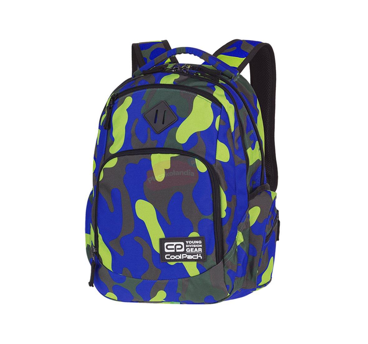Plecak szkolny Coolpack Break 29L Camouflage Lime PTR 88909CP
