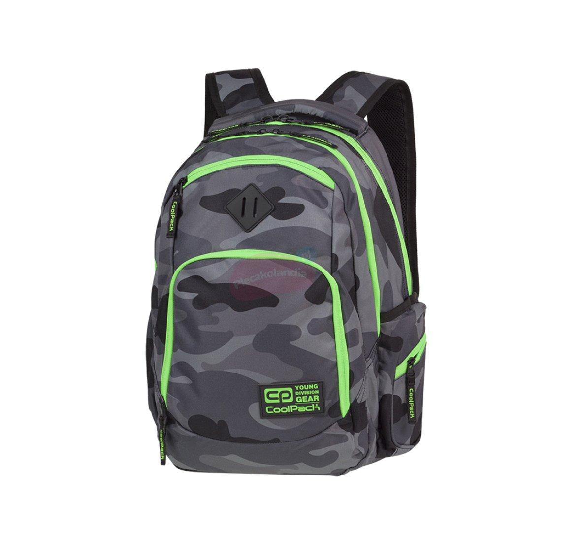 73f8c19772915 Plecak szkolny Coolpack Break 29L Camo Green Neon PTR 90377CP