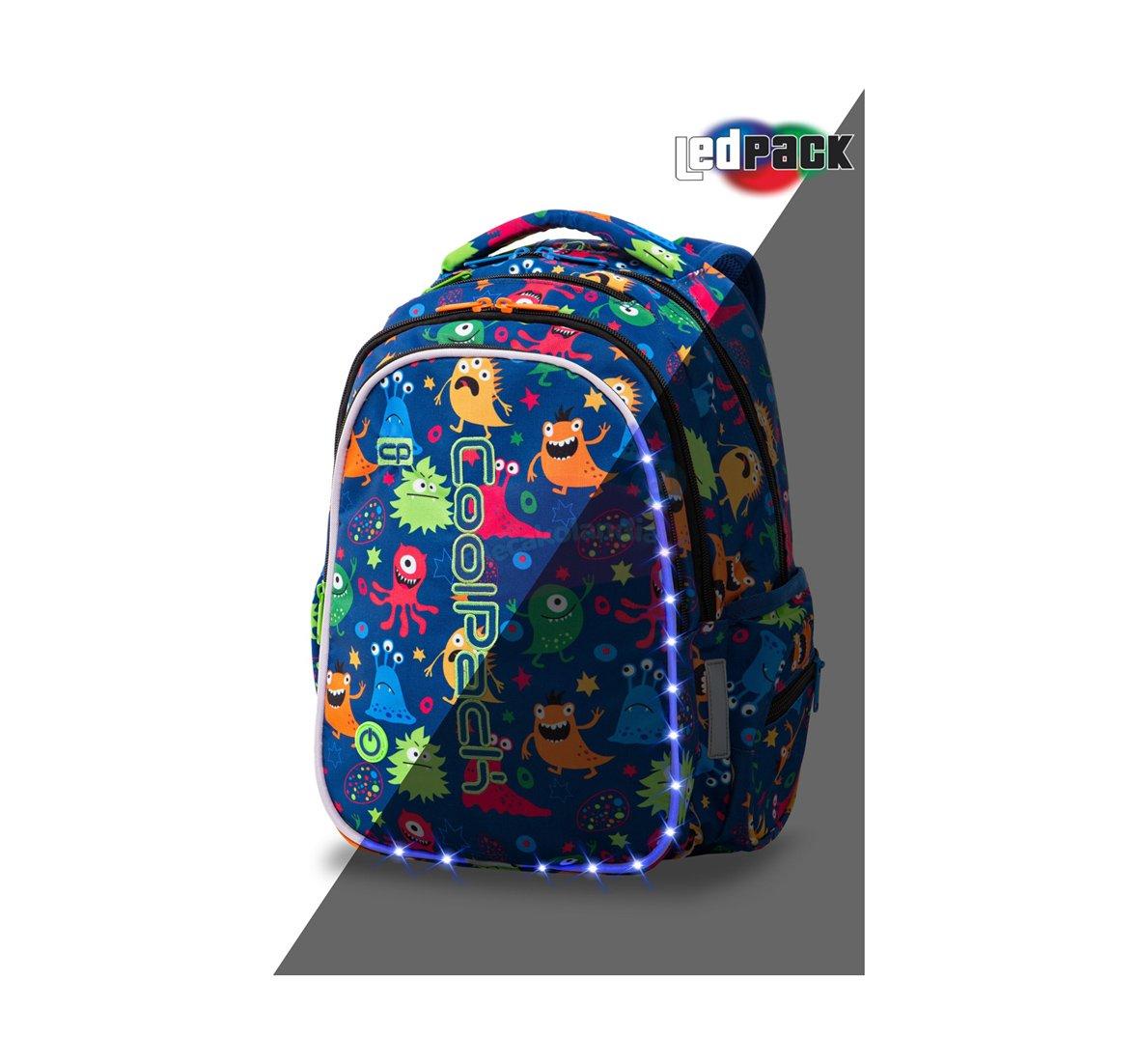 e031a74f5966f PLECAK Szkolny Coolpack Joy-M LED FUNNY MONSTERS PTR A20206