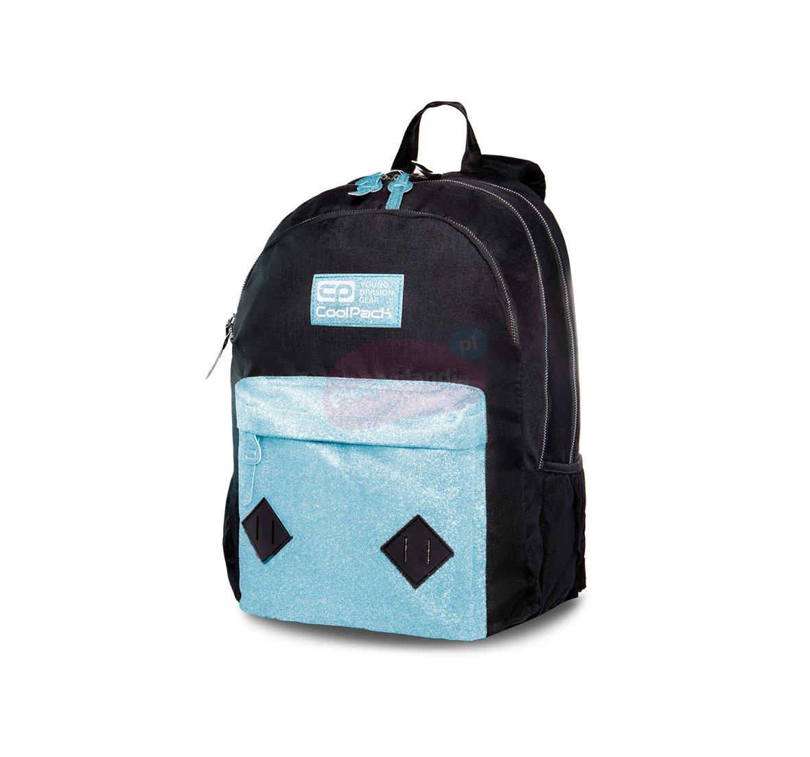 f0275838313bf PLECAK młodzieżowy Coolpack HIPPIE BLUE GLITTER PTR B33083